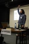 Vladimír Přichystal zahájil příspěvek motivační rozcvičkou