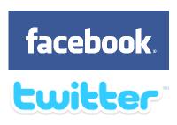 Loga Twitteru a Facebooku, ilustrace